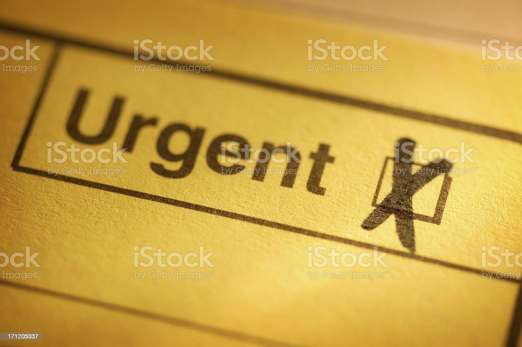 Urgent stock photo