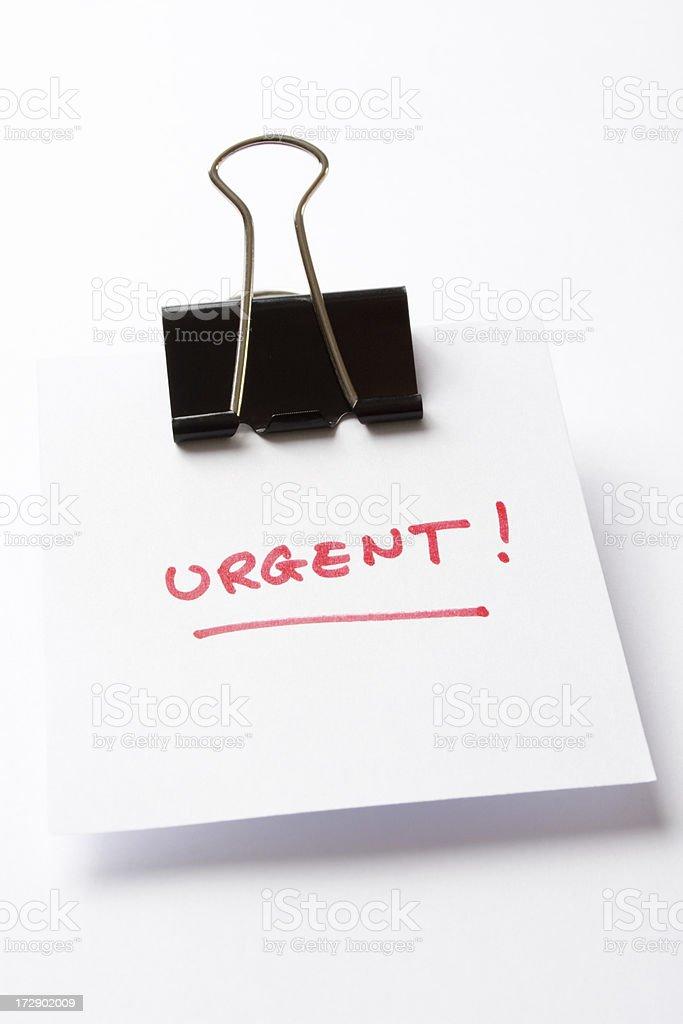 Urgent! royalty-free stock photo