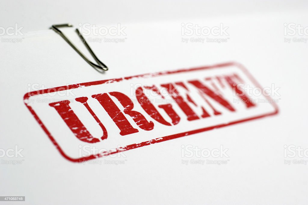 Urgent royalty-free stock photo