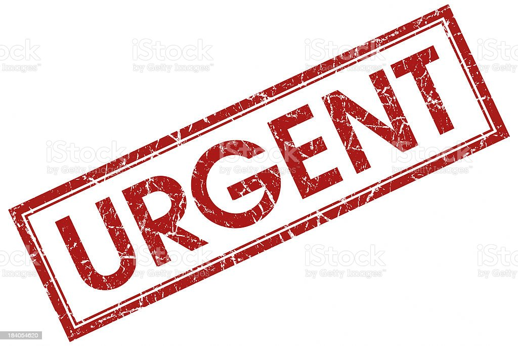 urgent red square stamp stock photo