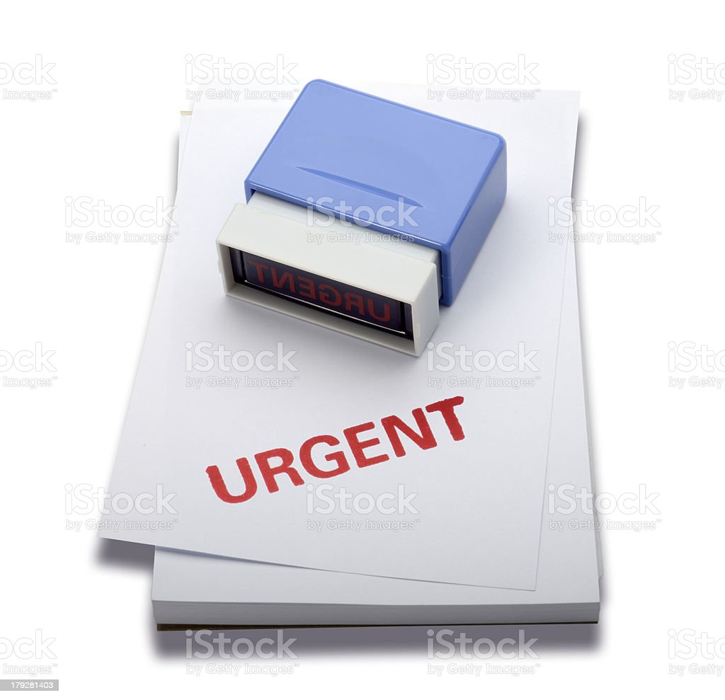 Urgent rubber stamp (Clipping path) royalty-free stock photo