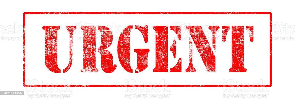 Urgent - Rubber Stamp stock photo