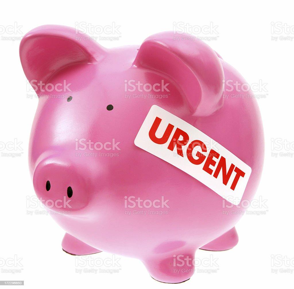 Urgent Savings royalty-free stock photo