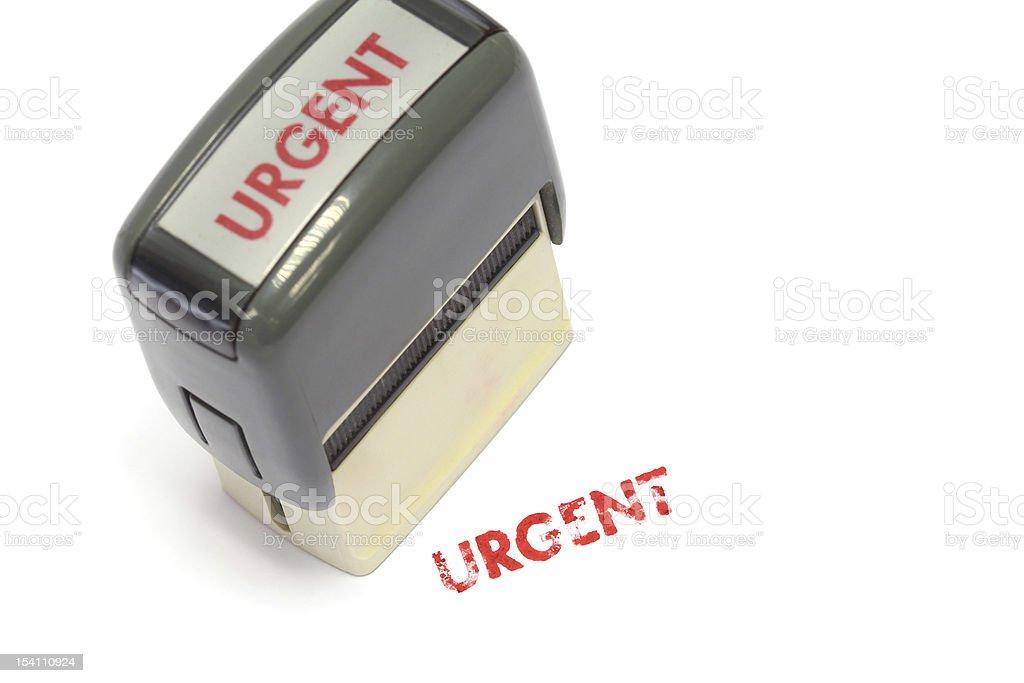 Urgent Stamp royalty-free stock photo