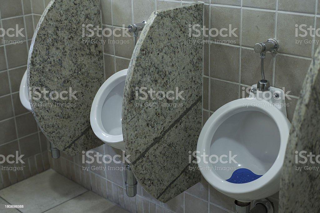 Urinals in Bathroom stock photo