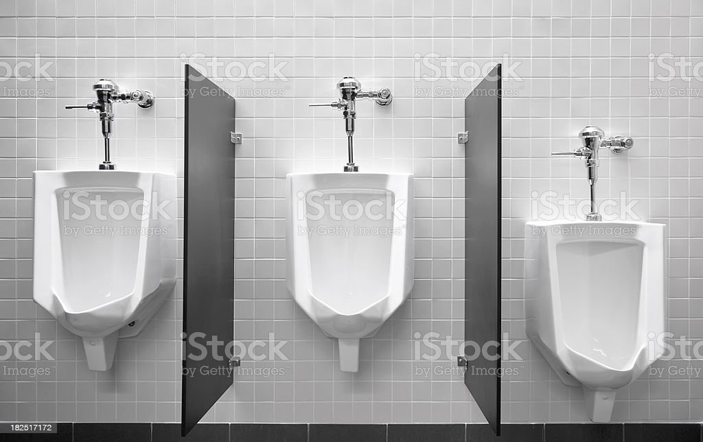 Urinals royalty-free stock photo