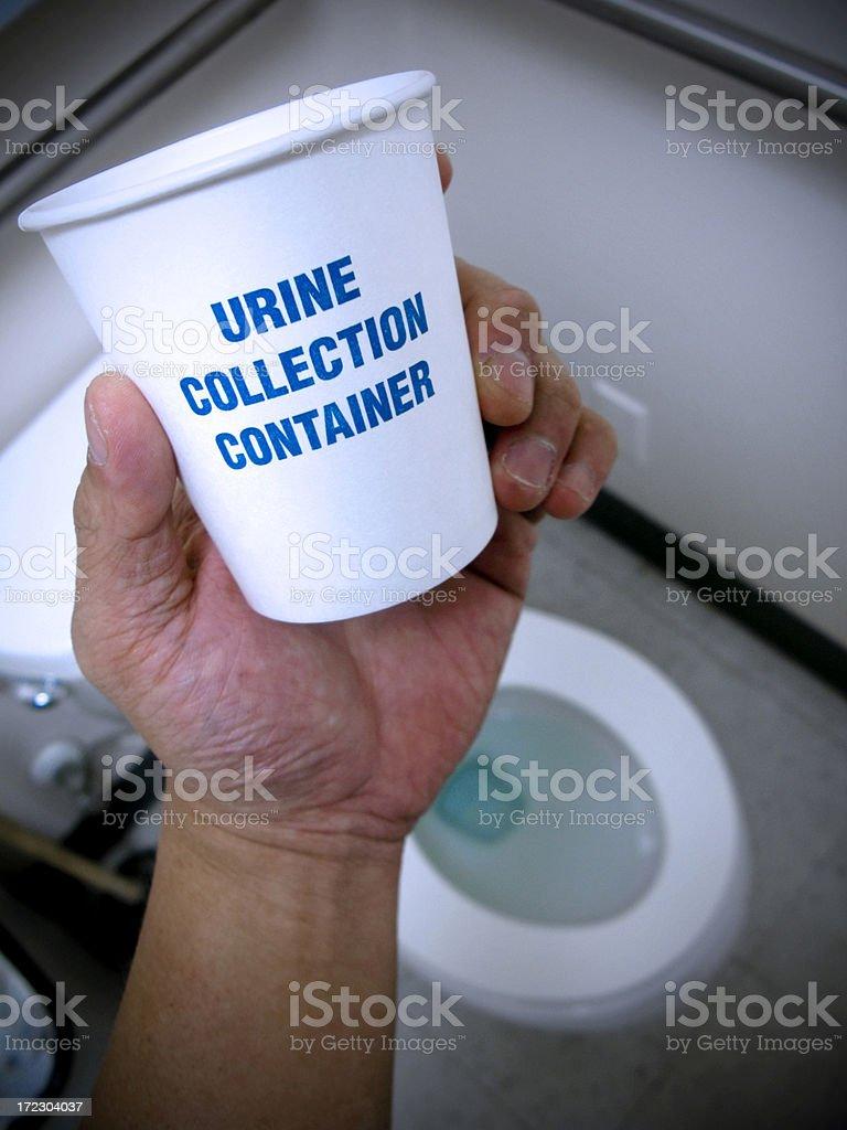 Urine or Drug Testing royalty-free stock photo