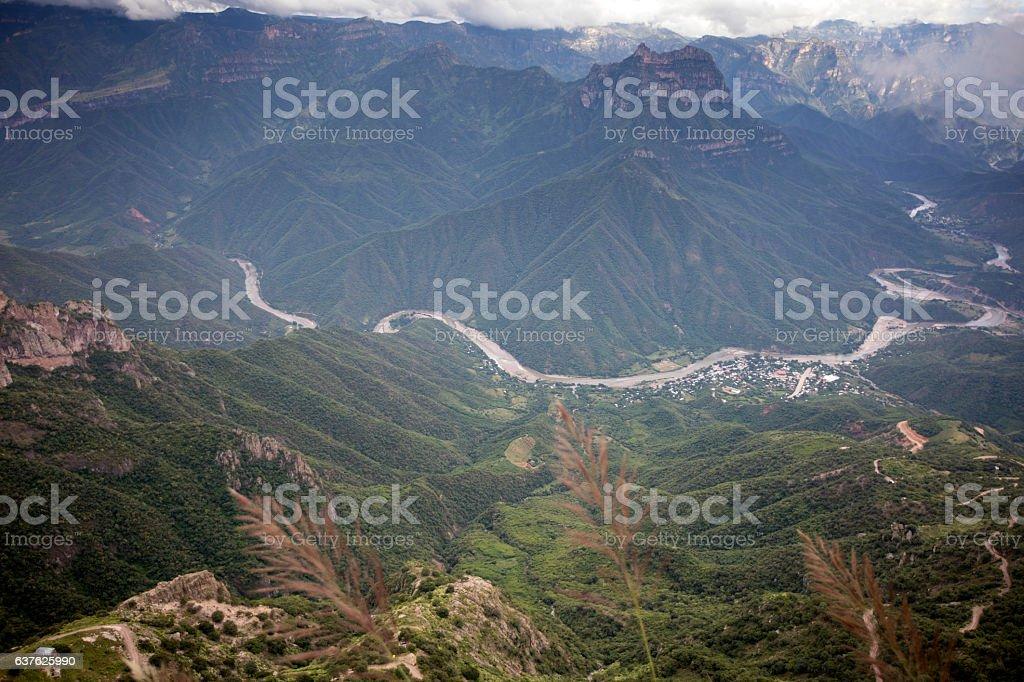 Urique Canyon. Cooper Canyon stock photo
