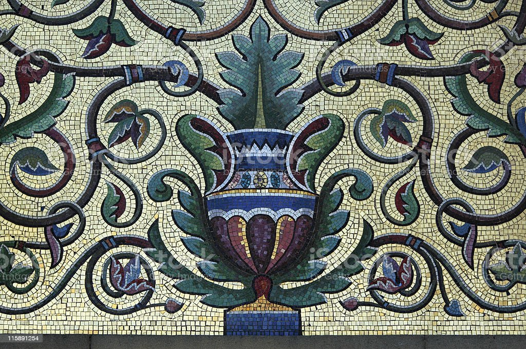 urn mosaic tile detail royalty-free stock photo