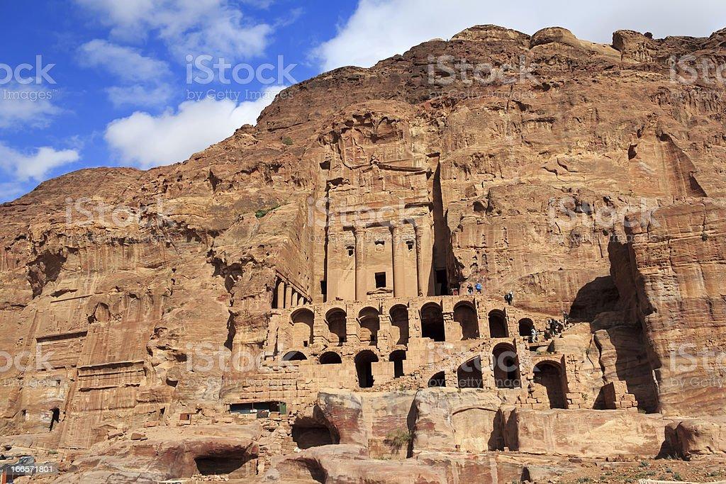 Urn Tomb in Petra, Jordan royalty-free stock photo
