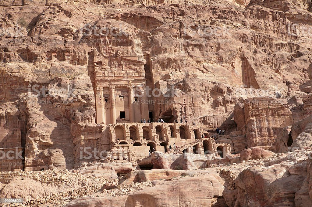 Urn tomb in Petra royalty-free stock photo