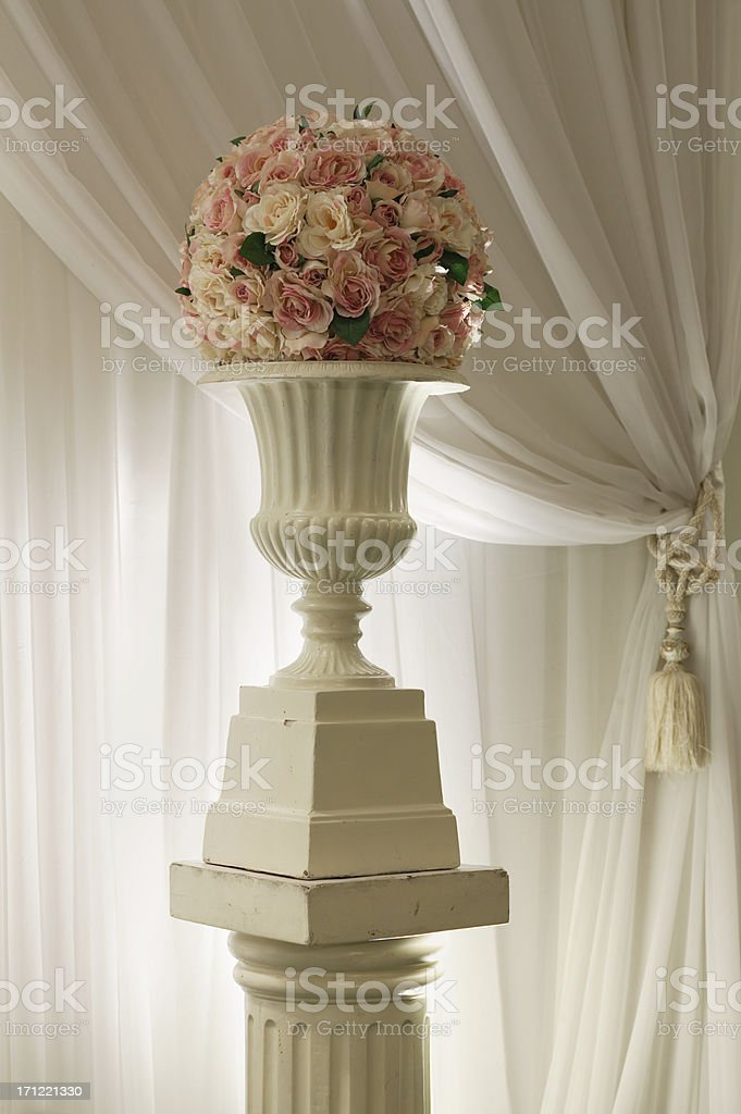 Urn with Roses royalty-free stock photo