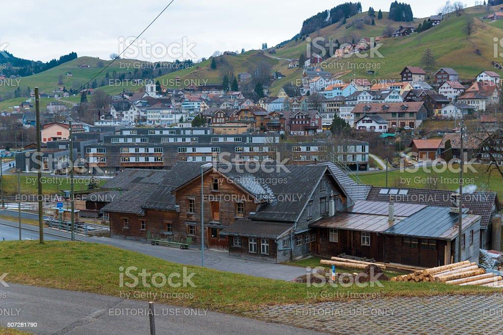 Urnasch village view stock photo