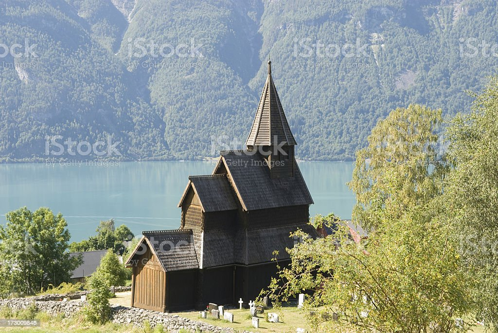 Urnes stave church stock photo