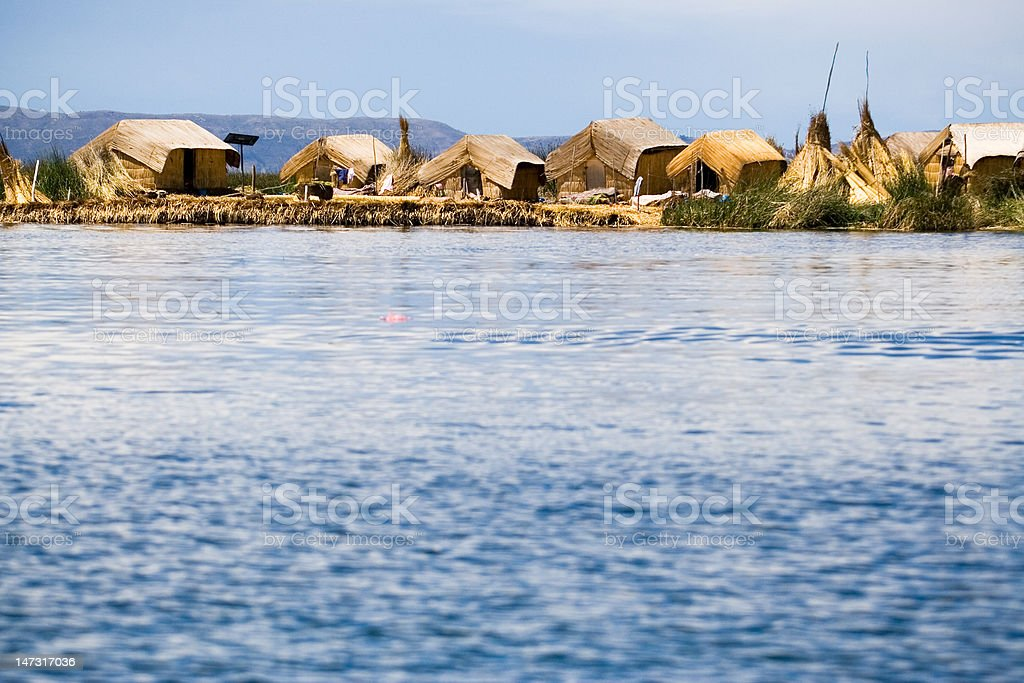 Uros Floating Islands, Lake Titicaca, Peru stock photo
