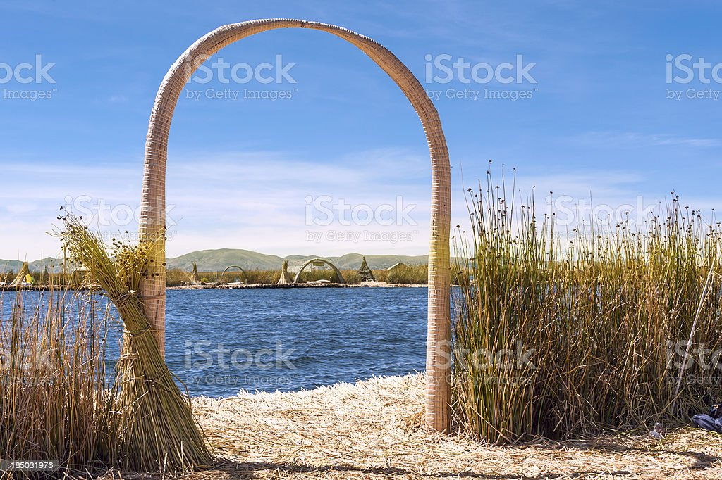 Uros - Floating Islands, Titicaca, Peru royalty-free stock photo