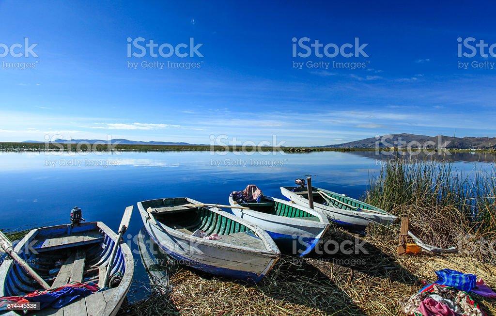 Uros Flotilla stock photo