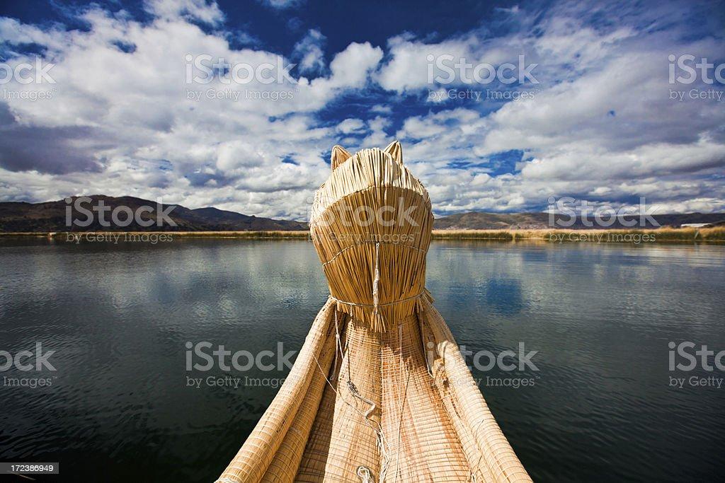 Uros Island, Lake Titicaca royalty-free stock photo