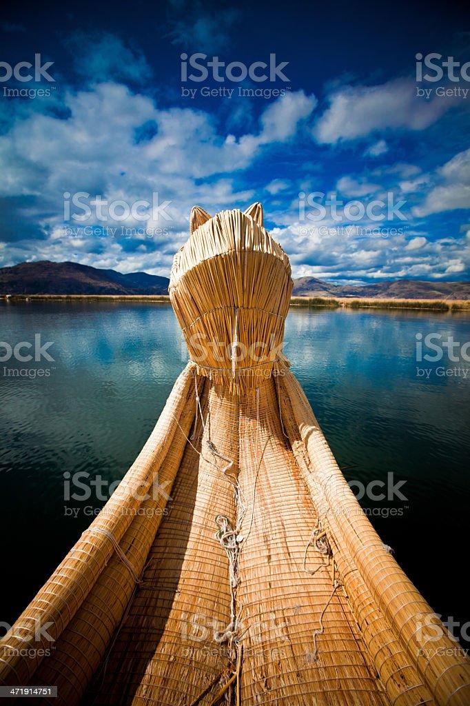 Uros Island, Lake Titicaca stock photo