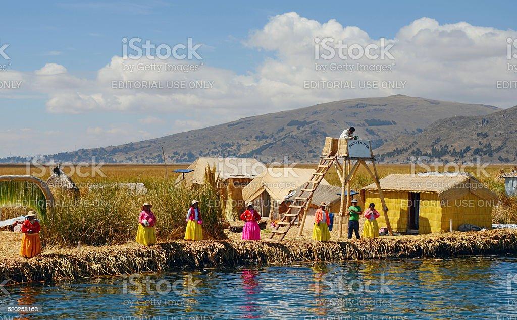 Uros Islands, Lake Titicaca, Puno stock photo