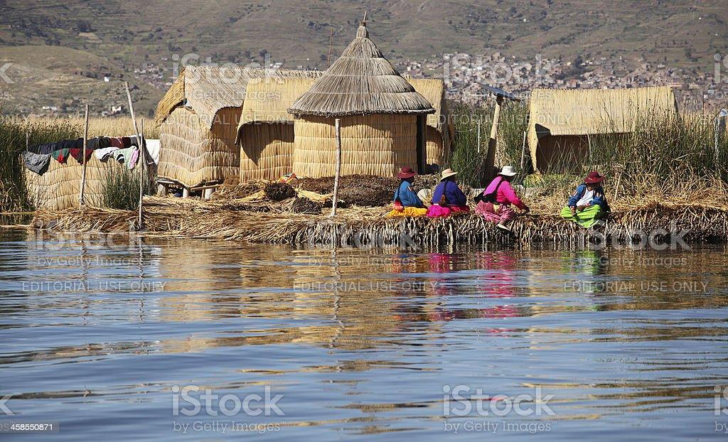 Uros Islands, Peru stock photo