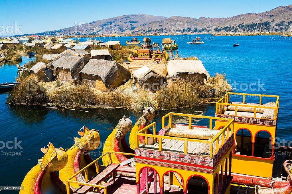 Uros islands stock photo