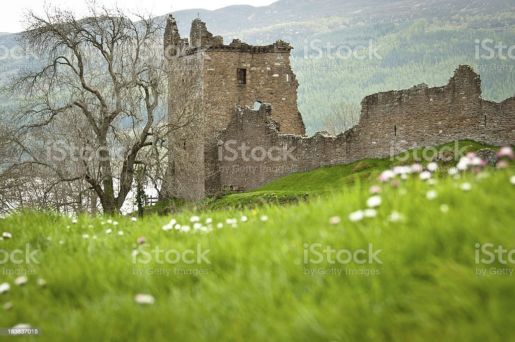 Urquhart Castle and Loch Ness, Scotland stock photo
