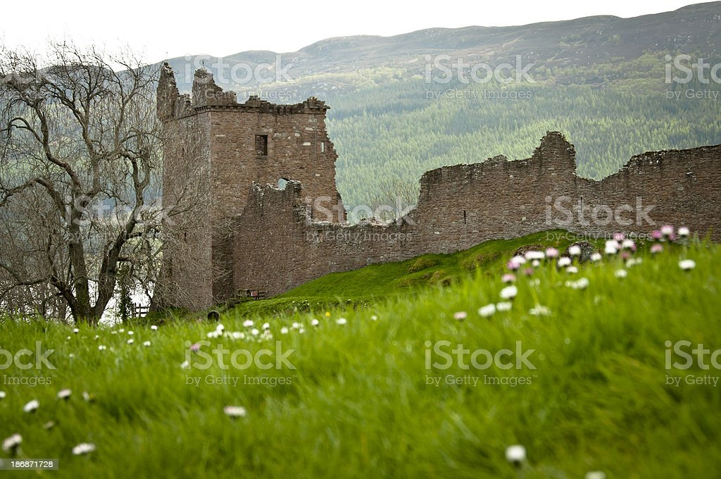'Urquhart Castle and Loch Ness, Scotland' stock photo