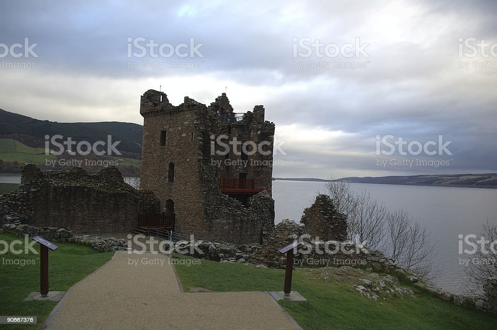 Urquhart Castle on Loch Ness royalty-free stock photo