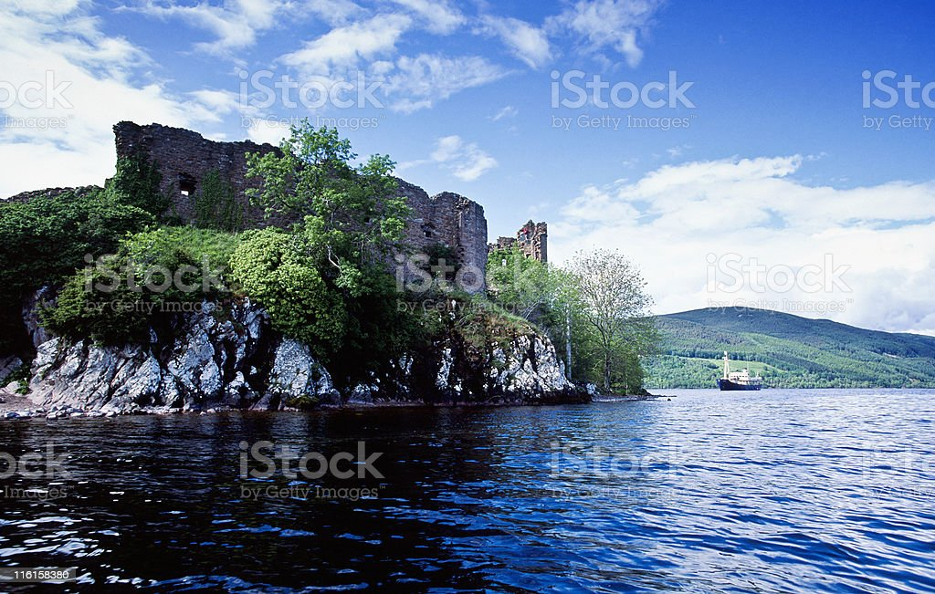 Urquhart Castle royalty-free stock photo
