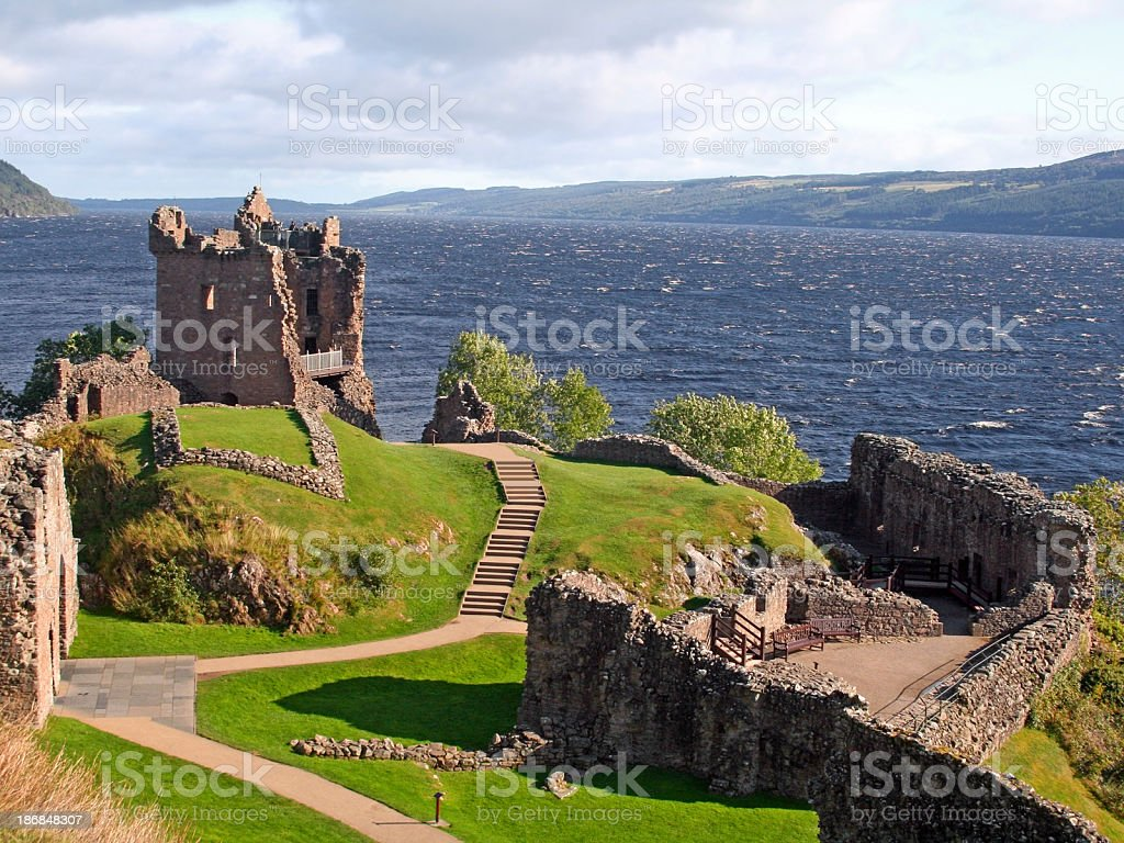 Urquhart Castle, Scotland stock photo