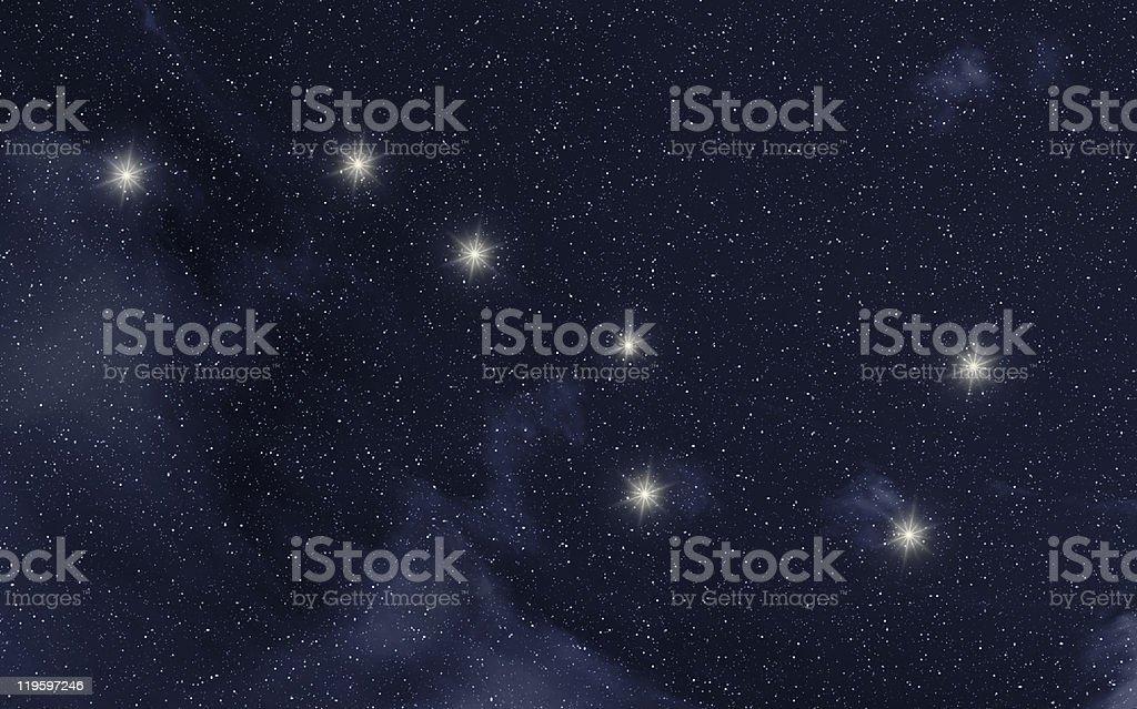 Ursa Major constellation royalty-free stock photo
