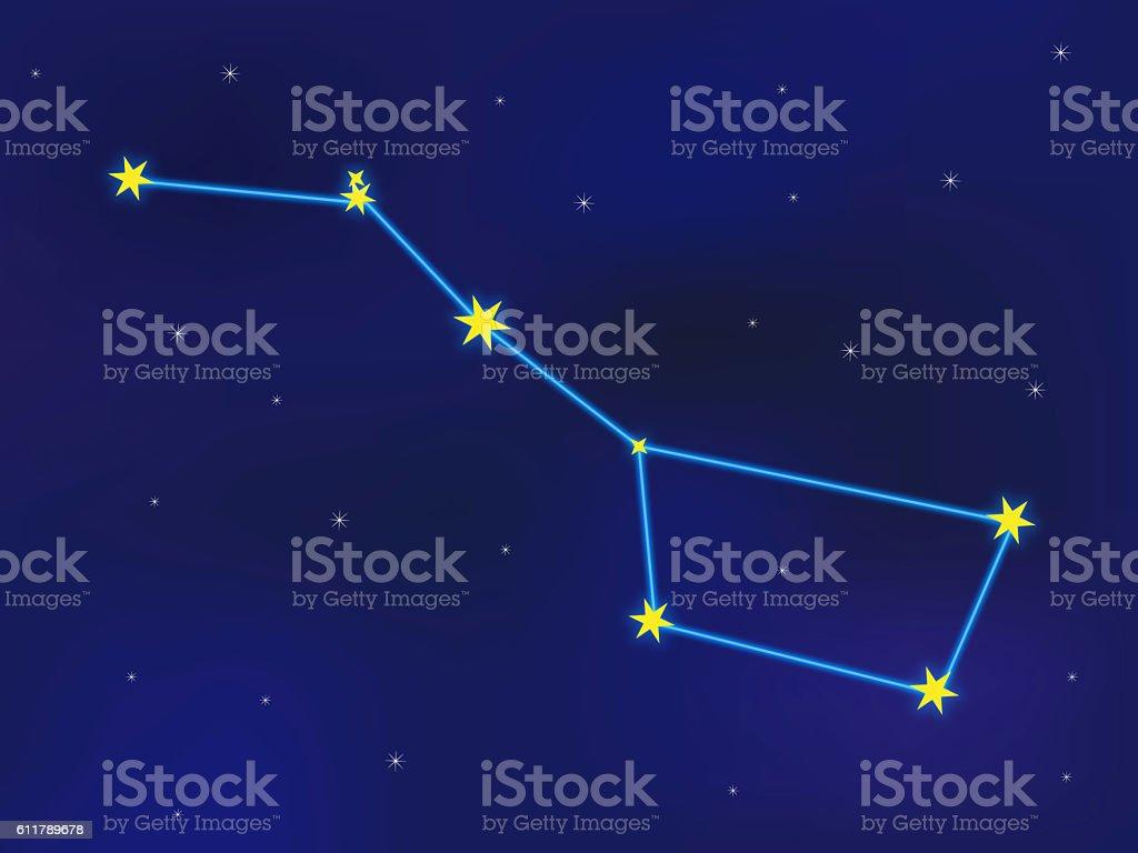 Ursa Major Constellation stock photo