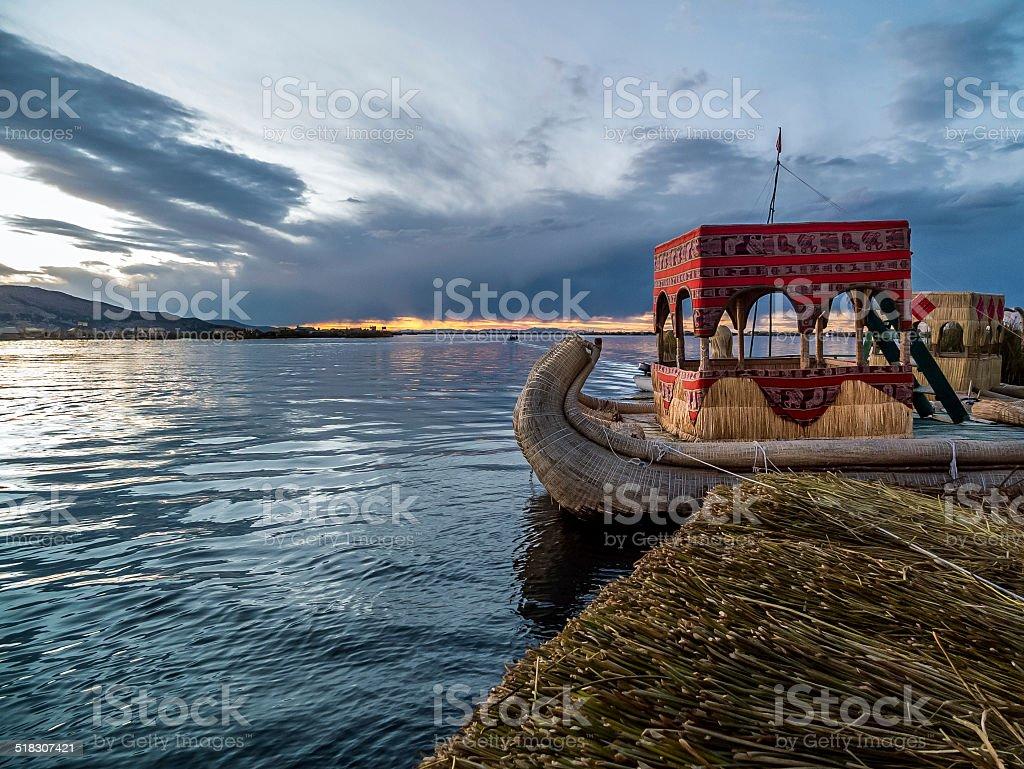 Uru Boat stock photo