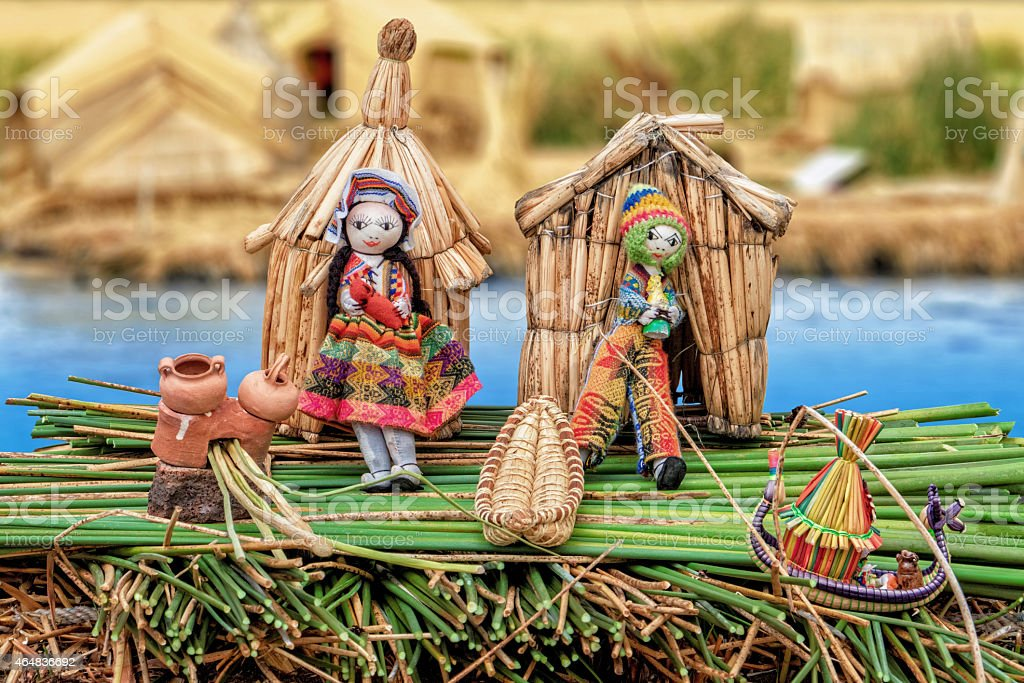 Uru puppets dollhouse stock photo