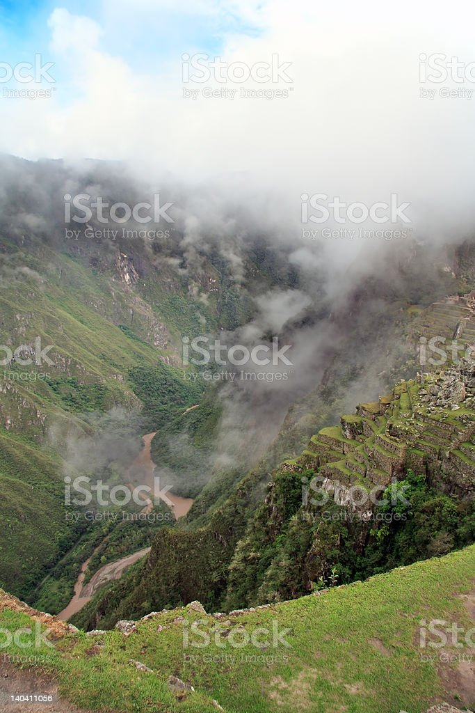 Urubamba river valley royalty-free stock photo