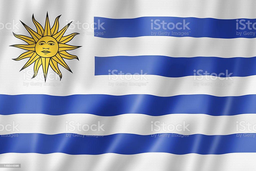 Uruguaian flag royalty-free stock photo