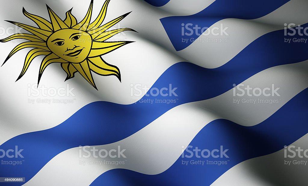 Uruguaian flag stock photo