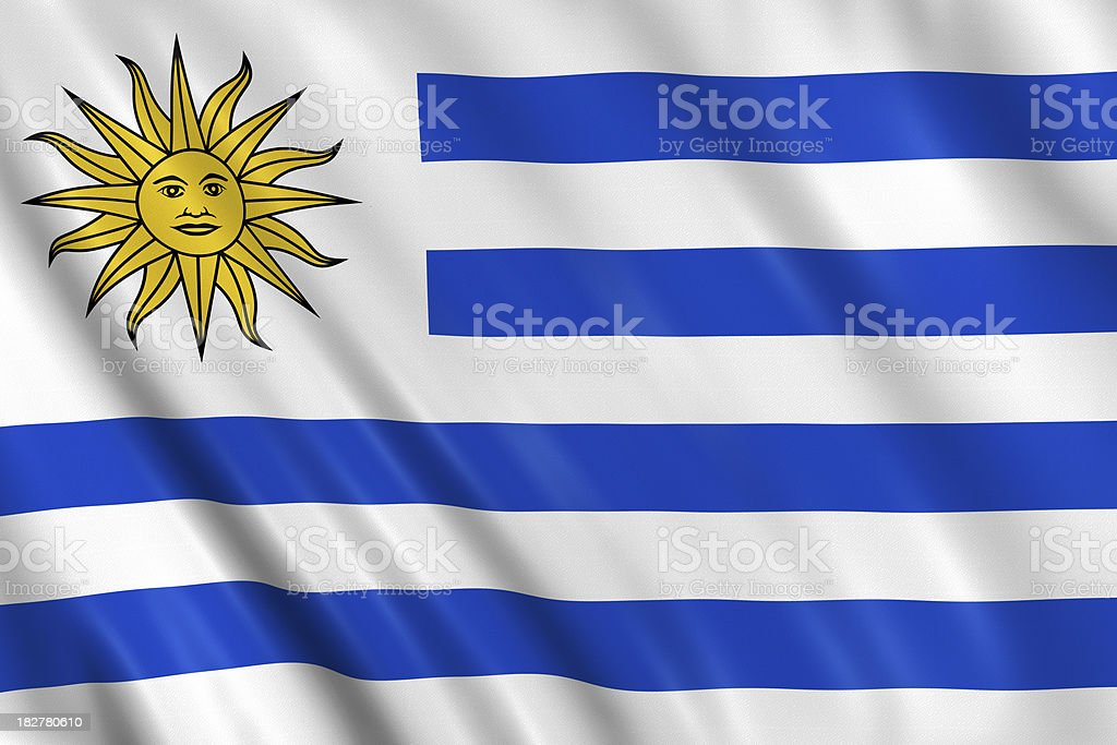 uruguay flag royalty-free stock photo