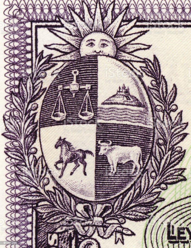 Uruguay shield royalty-free stock photo