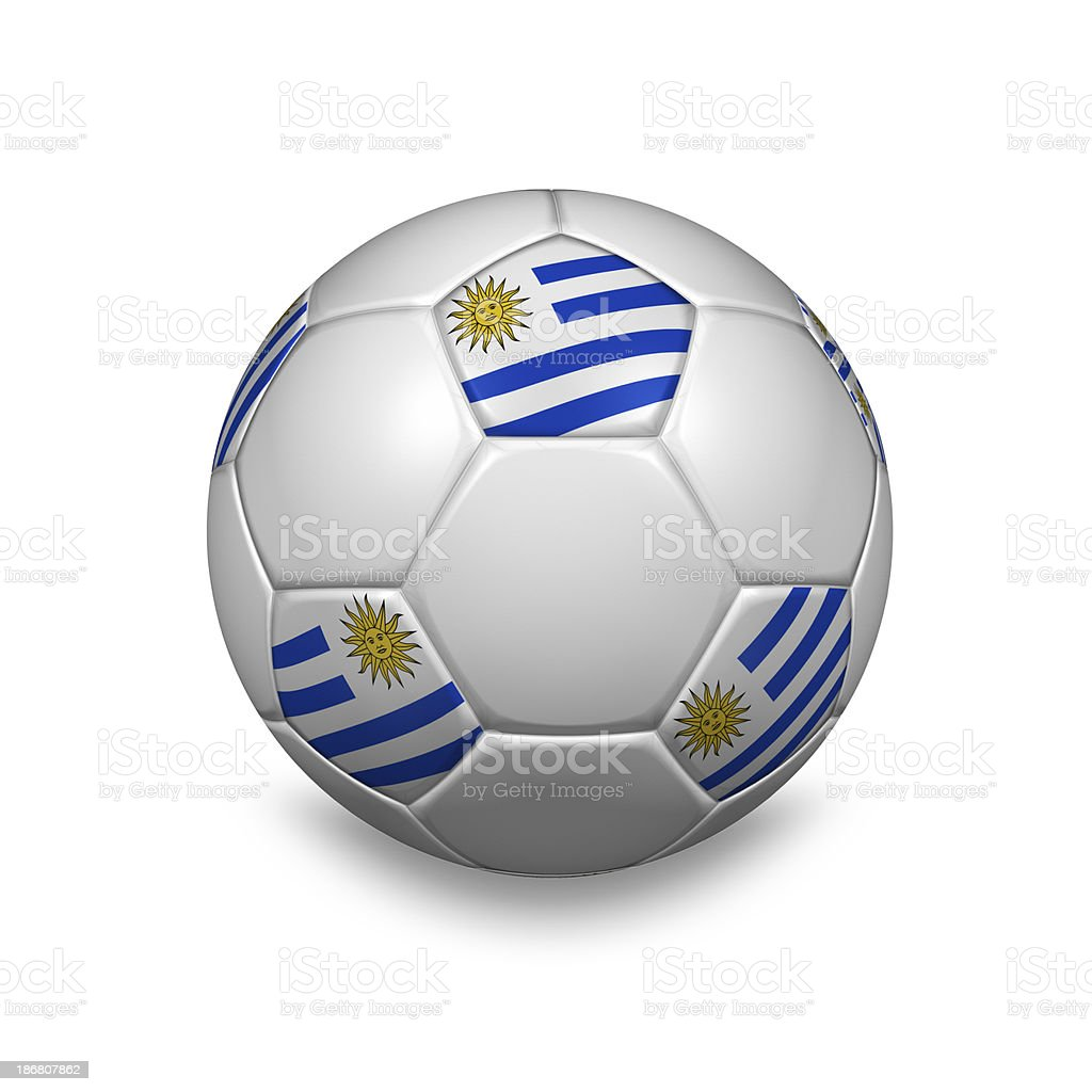 uruguay soccer ball royalty-free stock photo