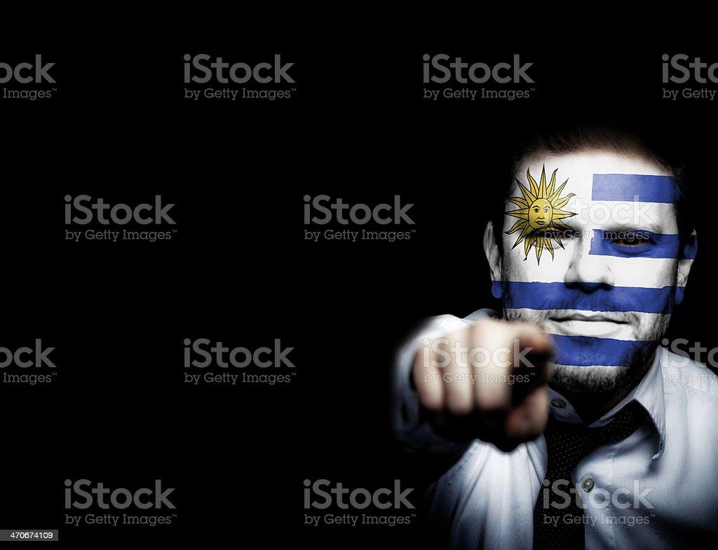 Uruguay Soccer Fan royalty-free stock photo
