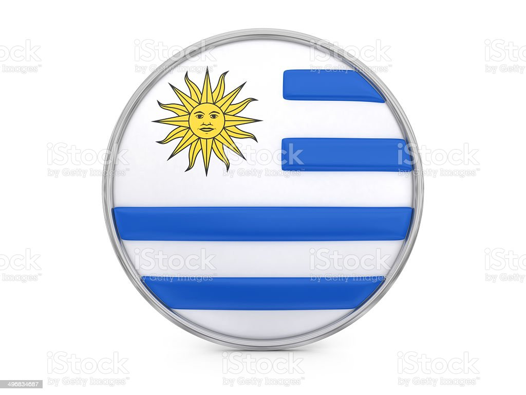 Uruguayan flag royalty-free stock photo