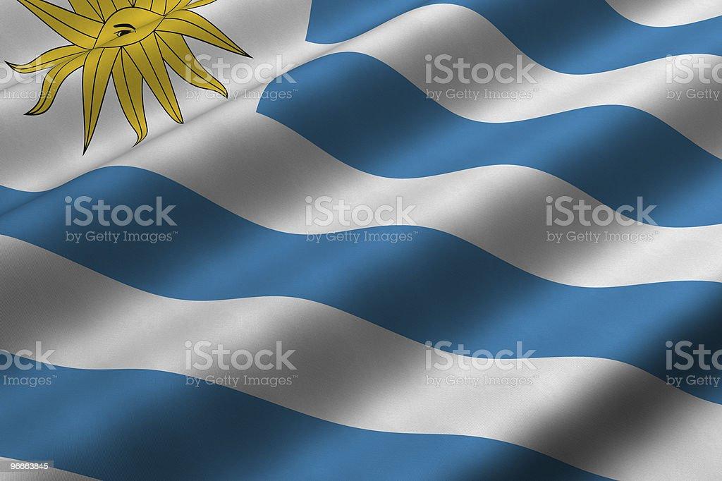 Uruguayan Flag stock photo