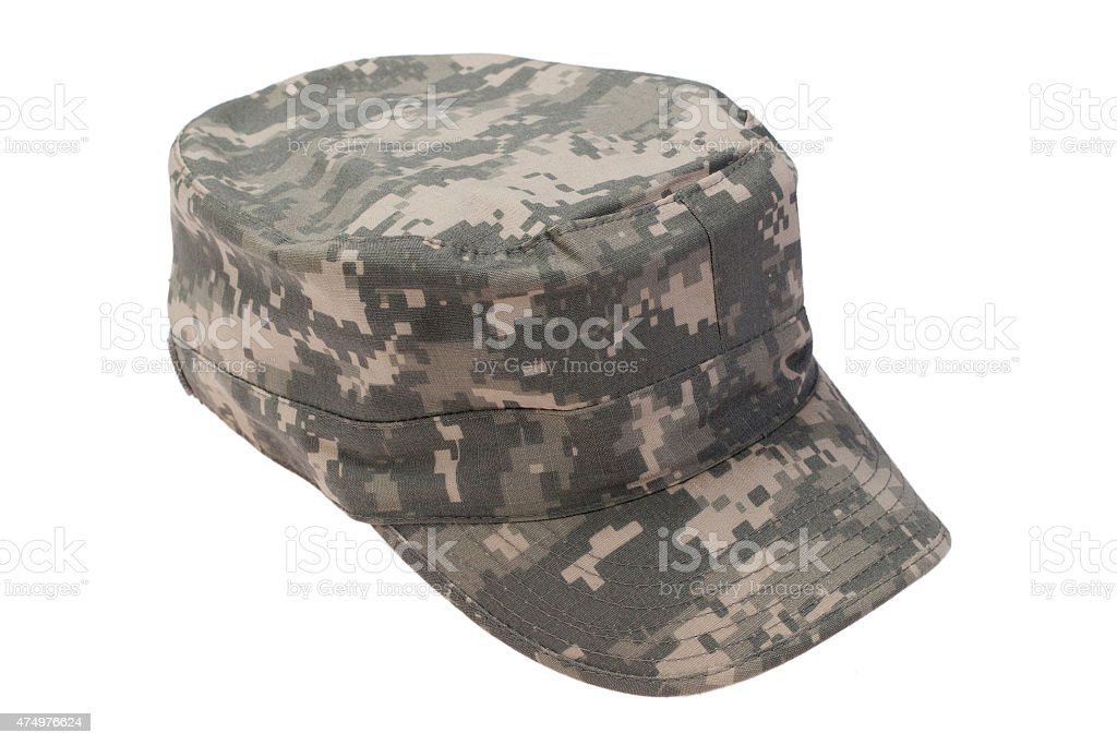 us army cap  on a white background stock photo