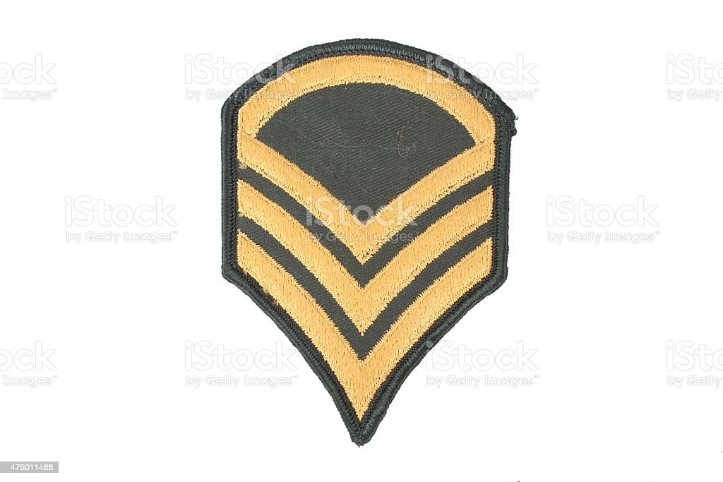 us army sergeant rank patch stock photo