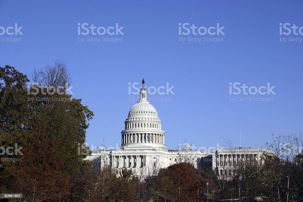 us capitol with space for type stock photo