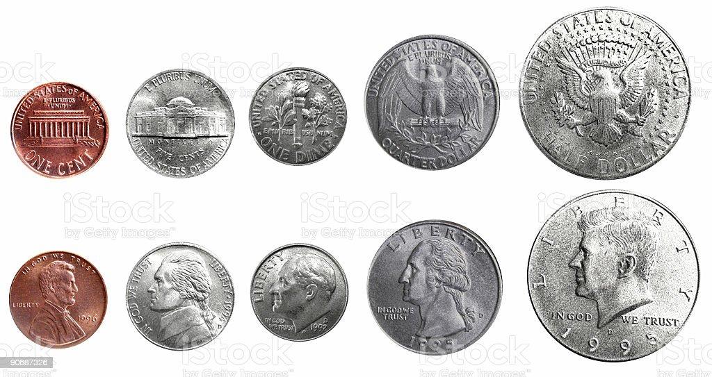 Us Coins Arrangement royalty-free stock photo
