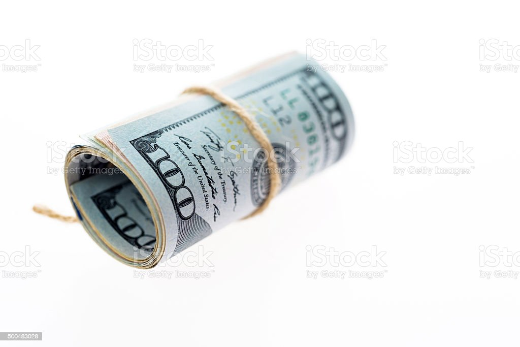 Us currency rolled stock photo
