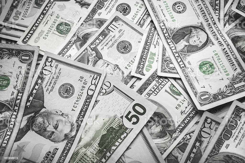 Us dollar currency stock photo